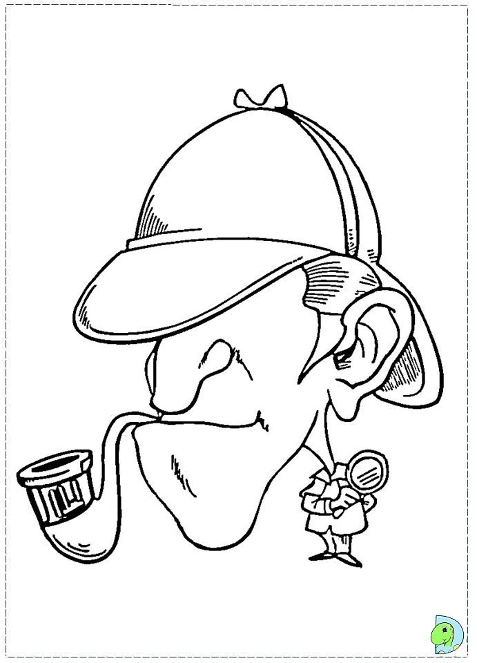 691x960 Sherlock Holmes Coloring Page
