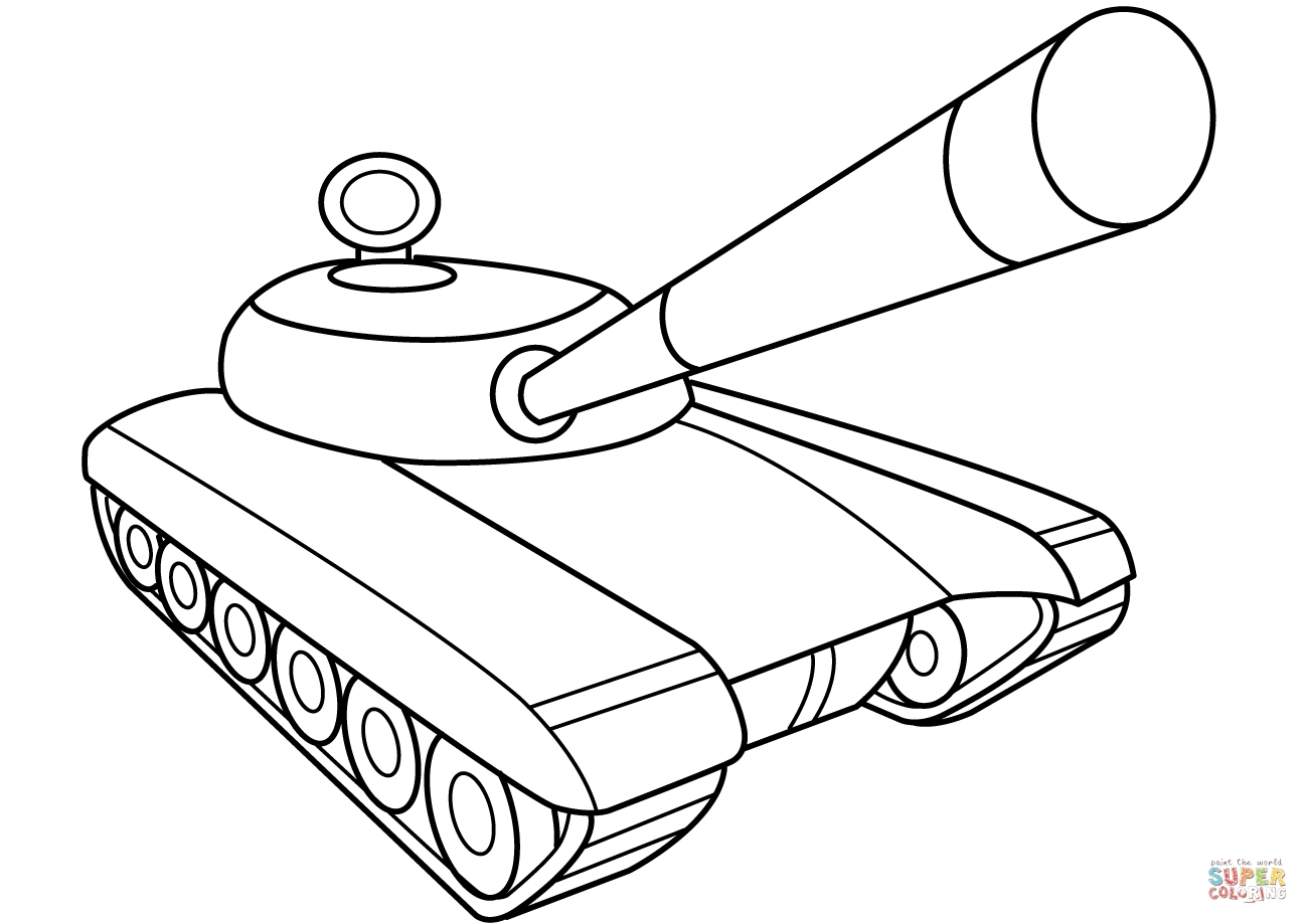 Sherman Tank Coloring Pages