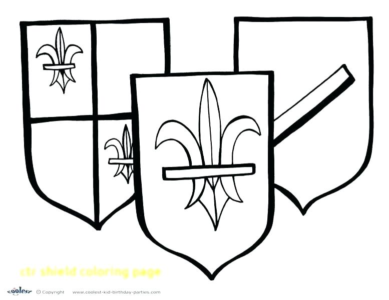 777x600 Clip Art Coloring Pages Ctr Shield Coloring Page Ctr Shield