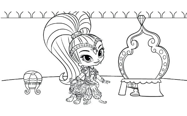 646x400 Shimmer And Shine Coloring As Well As Shimmer Shine Coloring Pages