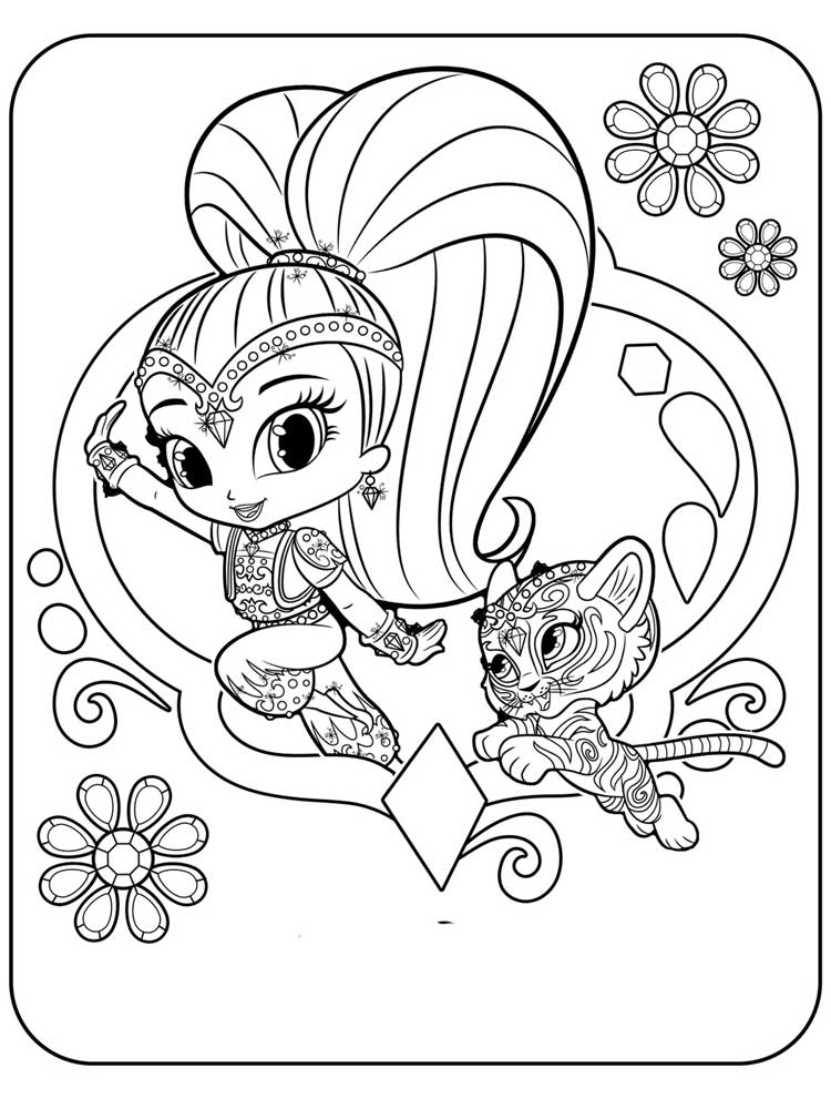 750x1000 Shimmer And Shine Coloring Pages Free Printable Shimmer And Shine
