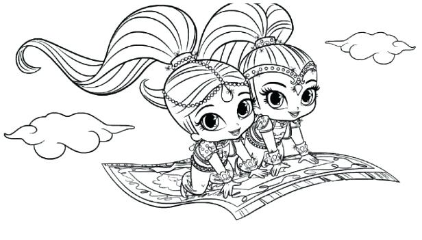 photo about Free Printable Shimmer and Shine Coloring Pages referred to as Shimmer Glow Coloring Webpages at  Cost-free for