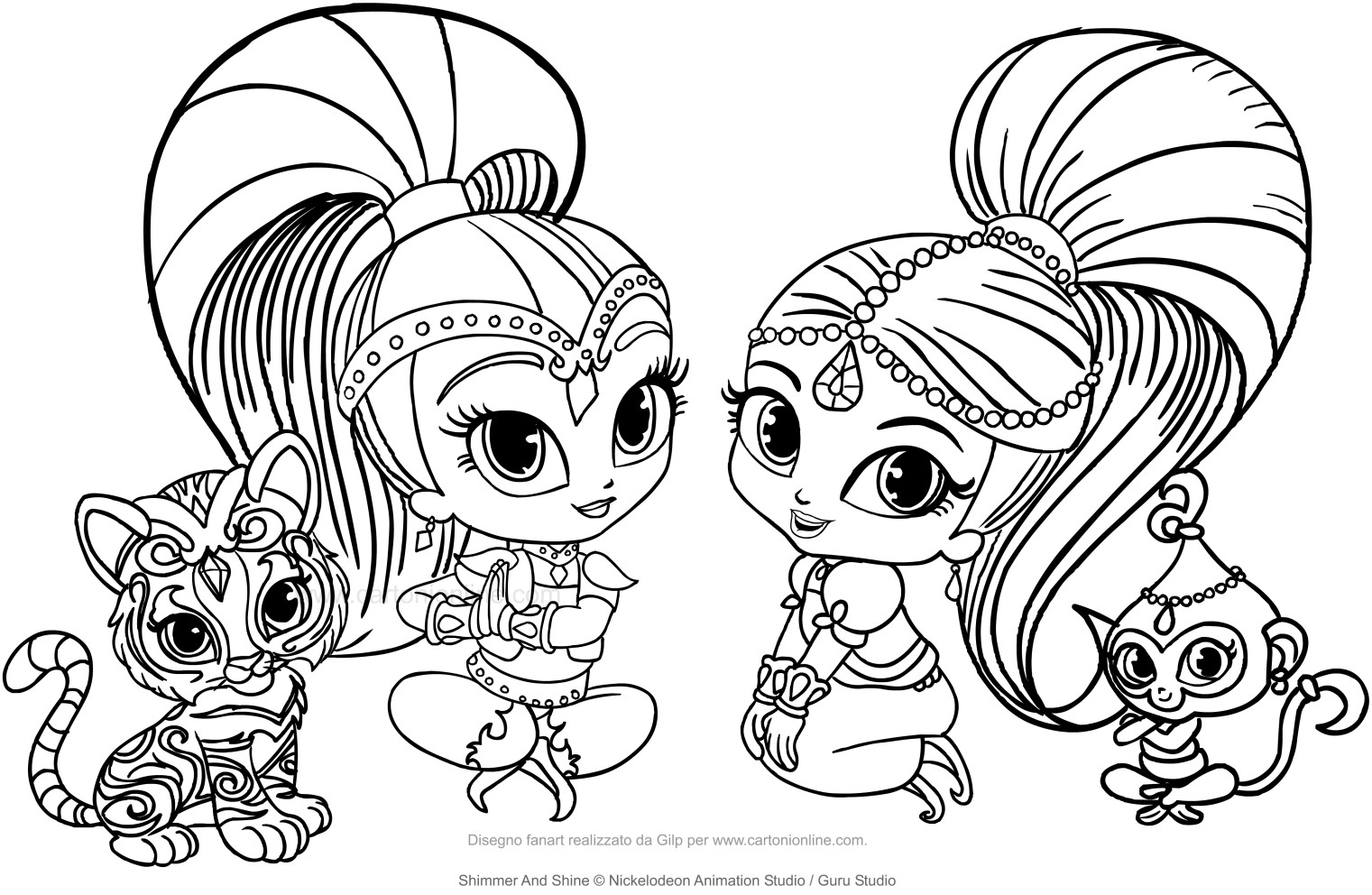 nickelodeon shimmer and shine coloring pages | Shimmer Shine Coloring Pages at GetDrawings.com | Free for ...