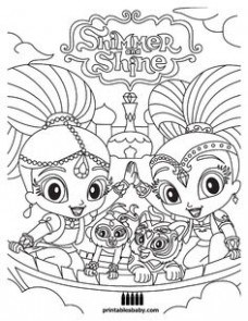 graphic relating to Free Printable Shimmer and Shine Coloring Pages identify Shimmer Glow Coloring Internet pages at  Free of charge for