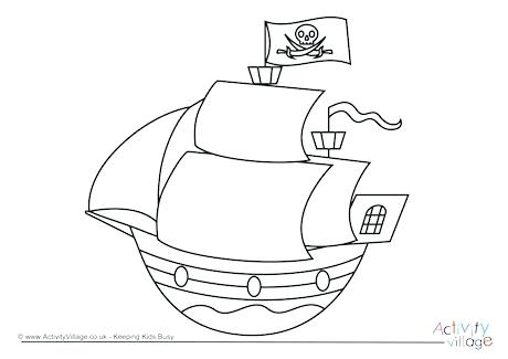 460x325 Pirate Ship Coloring Page Pirate Ship Colouring Page Pirate Ship
