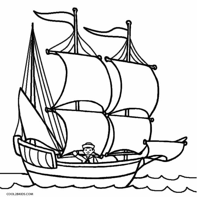 685x687 Printable Boat Coloring Pages For Kids