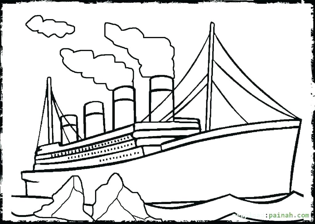 1024x728 Titanic Coloring Sheets Titanic Sinking Coloring Pages Titanic