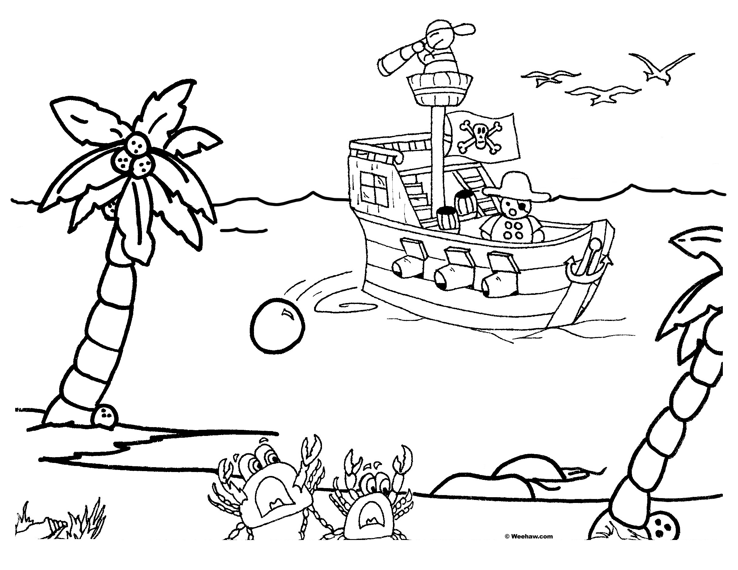 2432x1879 Pirate Ship Coloring Pages Kids Ships Free Credit Pirate