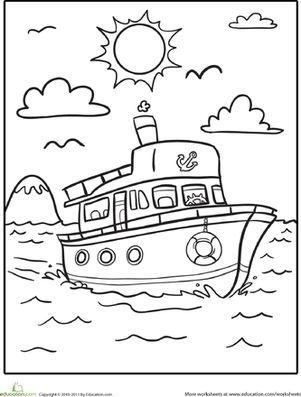 Ship Coloring Pages For Kids
