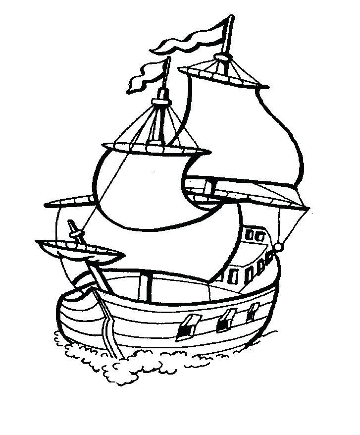 727x878 Free Pirate Ship Template Printable Kids Coloring Ship Coloring