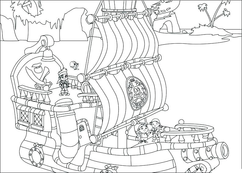794x567 Pirate Ship Coloring Pages Minimalist Pirate Ship Coloring Pages