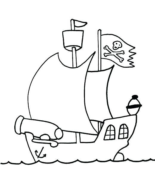 520x588 Big Pirate Ship Coloring Pages Printable Coloring Big Pirate Ship