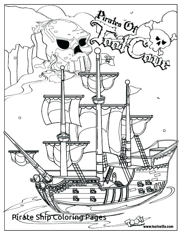 612x790 Pirate Ship Coloring Page