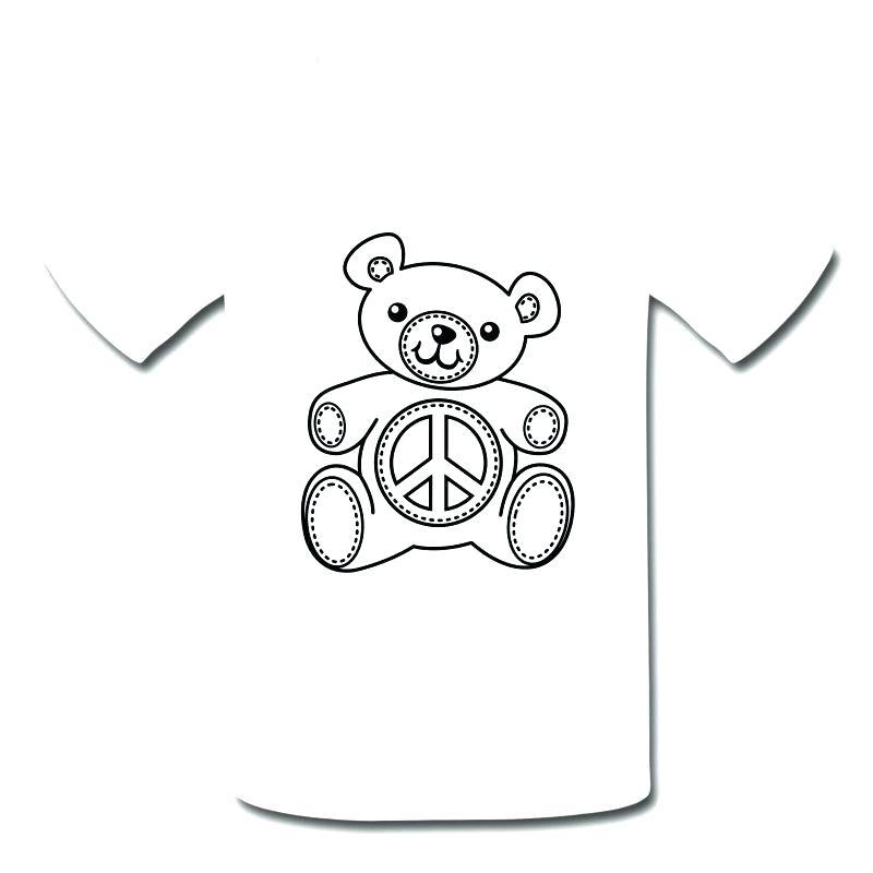 800x800 T Shirt Coloring Page T Shirt Coloring Teddy Bear Coloring T Shirt