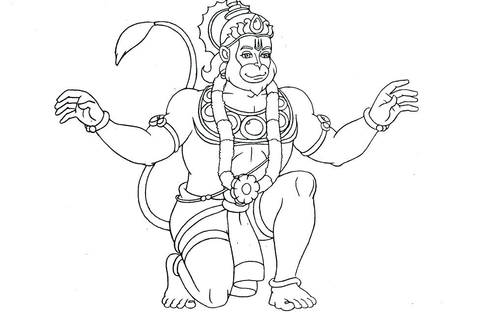 970x644 Coloring Page Download Free Coloring Page Coloring Page Hanuman