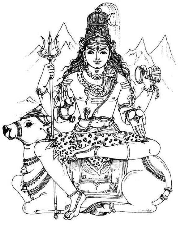 624x747 Fanciful Shiva Coloring Page Pages To Print Parvati Lingam