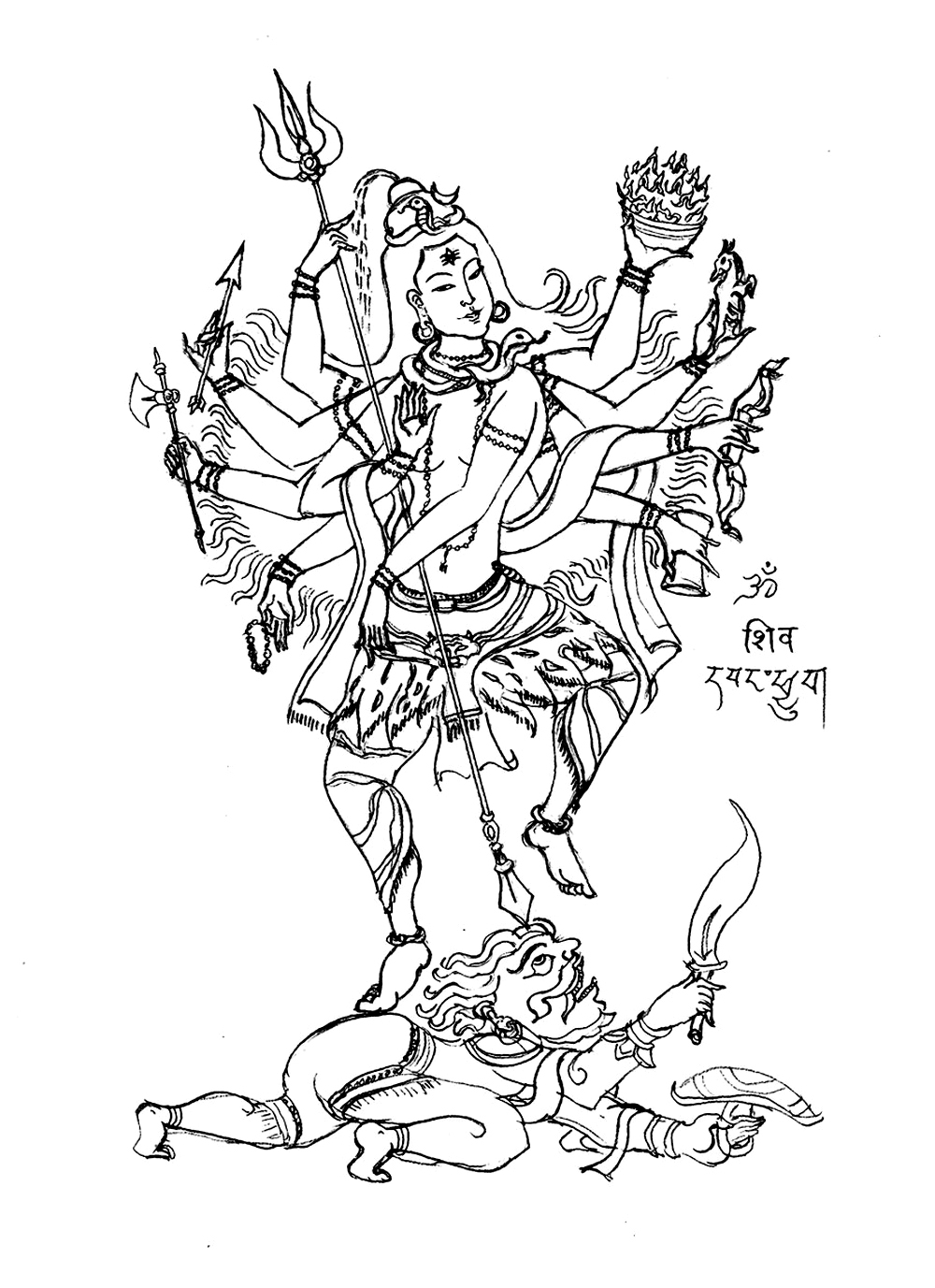 1000x1377 Growth Lord Shiva Coloring Pages Free Page Adu