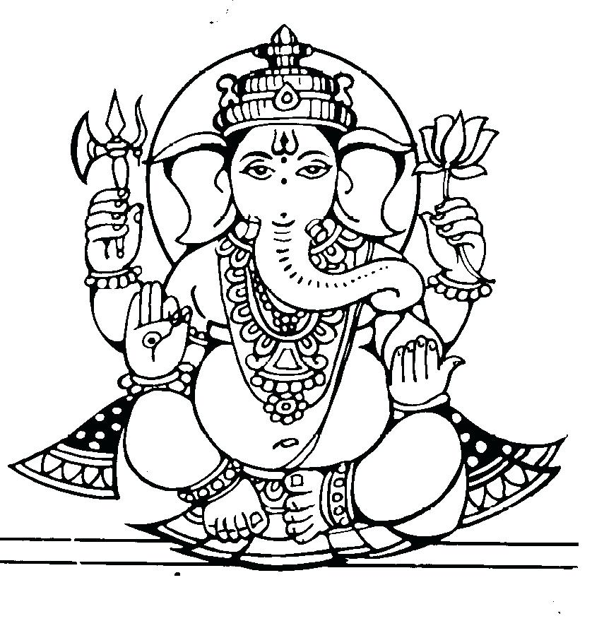 855x879 Indian Gods Coloring Pages