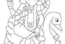 220x150 Shiva Coloring Page