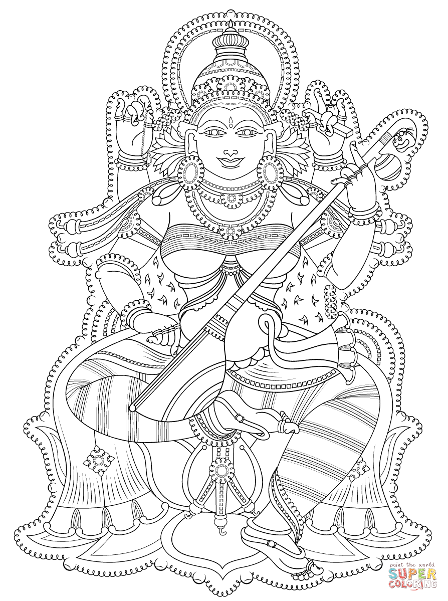 894x1199 Shiva Coloring Page Inside