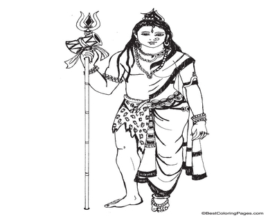400x322 Shiva Coloring Simple Page Image Clipart Images