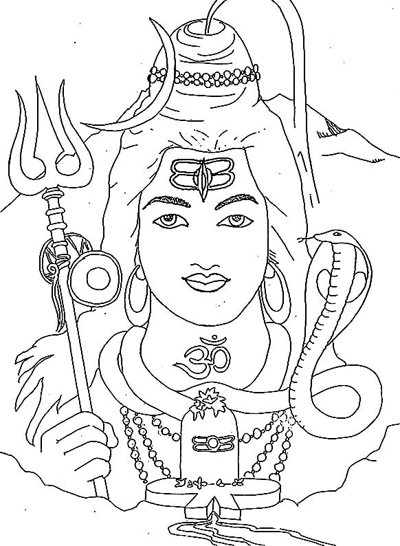 582x794 Shiva Coloring Pages To Print Dazzling Design Shiva Coloring Page