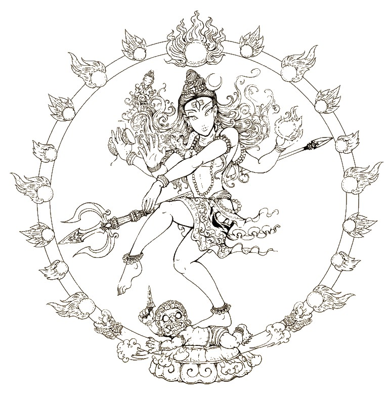 773x787 Adult Coloring Page India Shiva