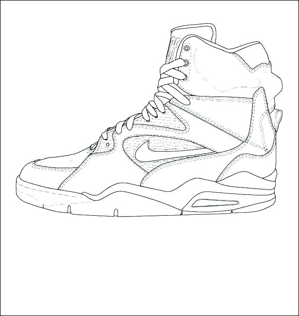 618x652 Coloring Pages Of Shoes Sneaker Coloring Page Shoes Coloring Pages