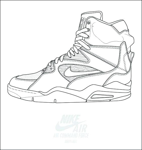 564x595 Exciting Jordan Shoe Coloring Pages Exciting Shoe Coloring Pages