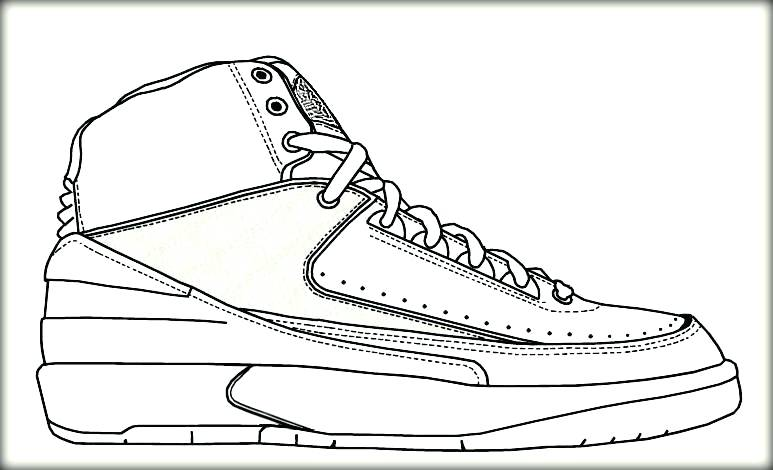 773x470 Air Jordan Printable Coloring Pages Air Basketball Shoe Colouring