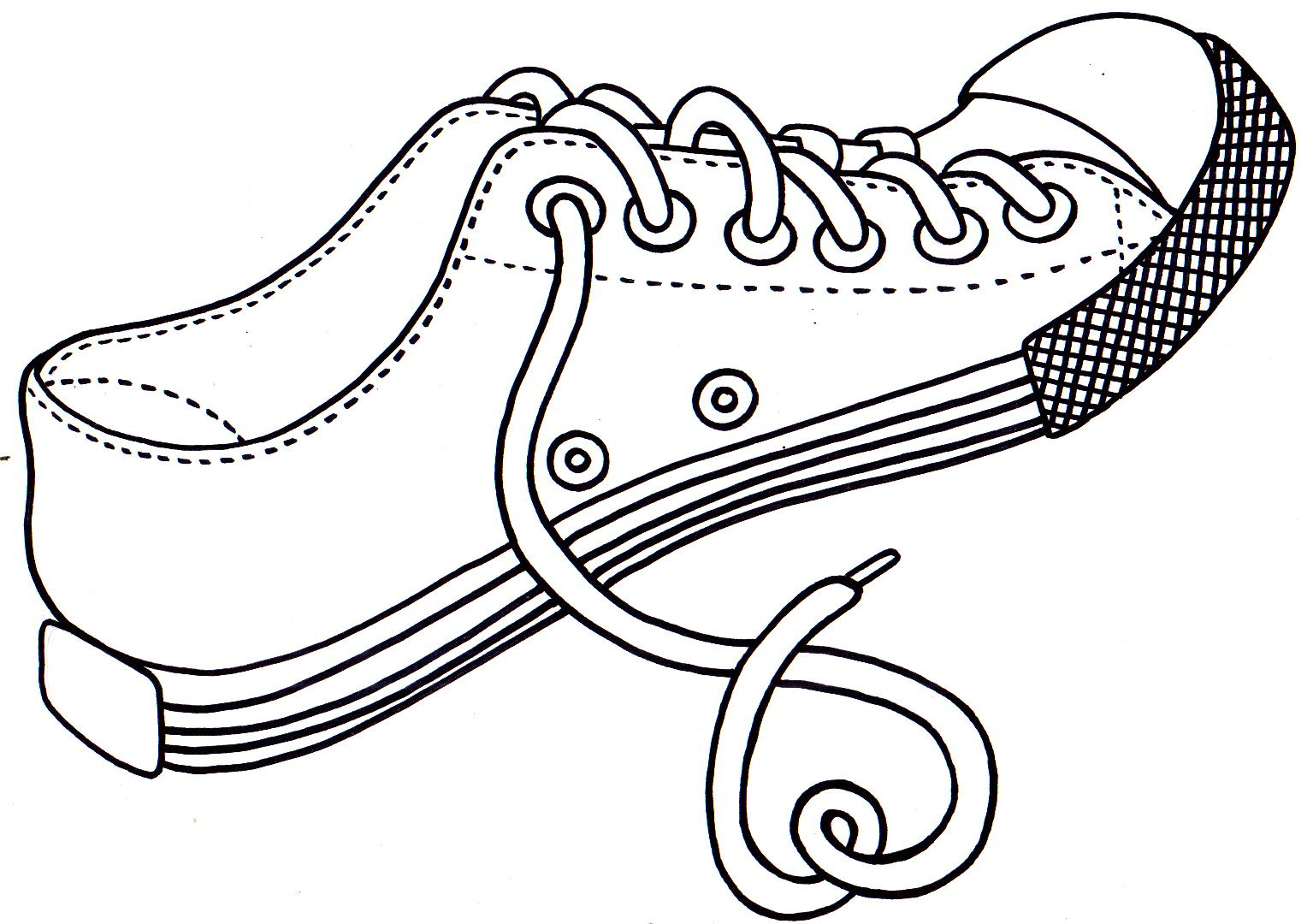 1535x1080 Shoes Coloring Page Free Printable Pages Kids Dance Ballet Stock