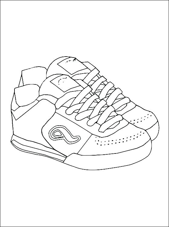 560x750 Tennis Shoe Coloring Pages Shoes Coloring Page Free Clipart Tennis