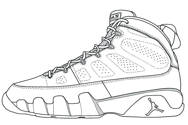 600x400 Shoes Coloring Page Coloring Ideas Pro