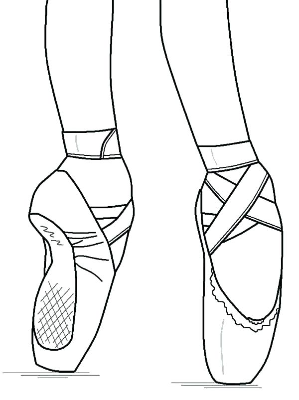 600x803 Ballet Shoe Coloring Pages Of Shoes Page Perform With Ballerina