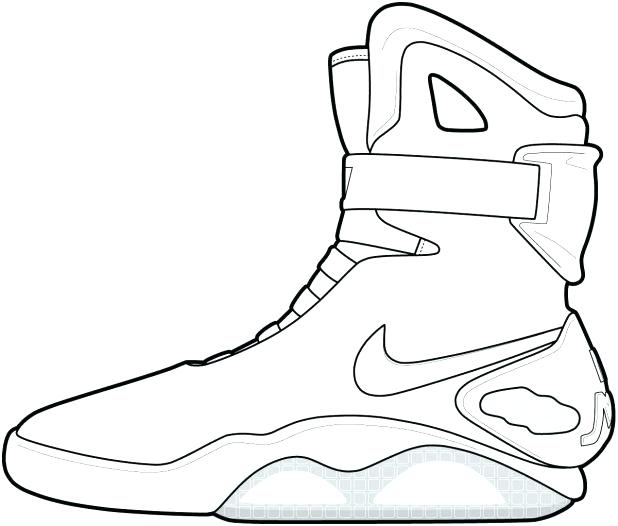 618x526 Basketball Shoe Coloring Page Basketball Shoes Coloring Pages