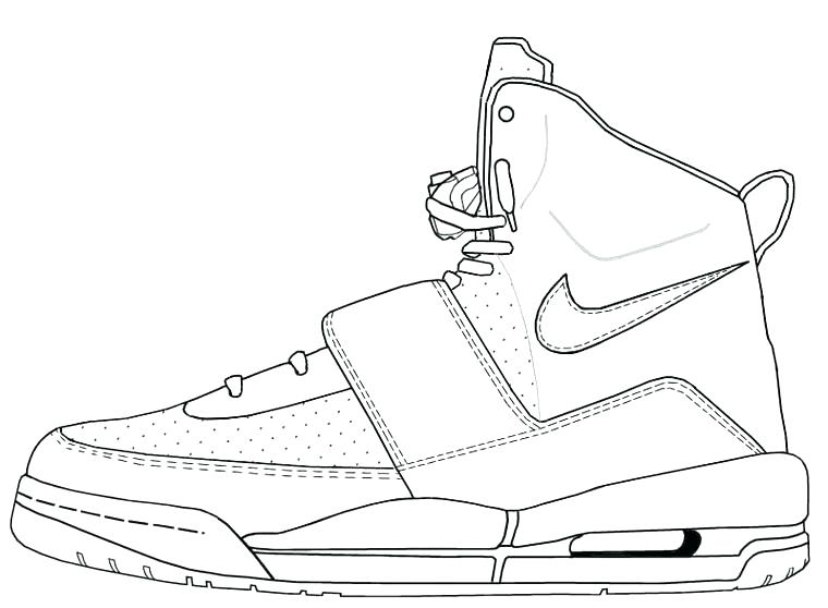 Shoe Coloring Pages For Kids