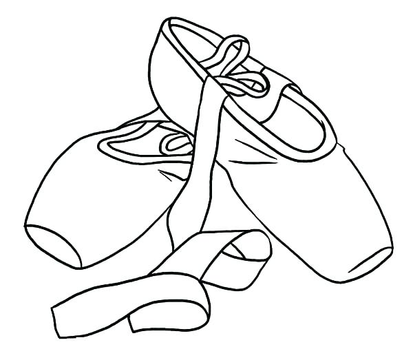 600x523 Coloring Pages Ballerina Princess Ballerina Shoes Coloring Pages