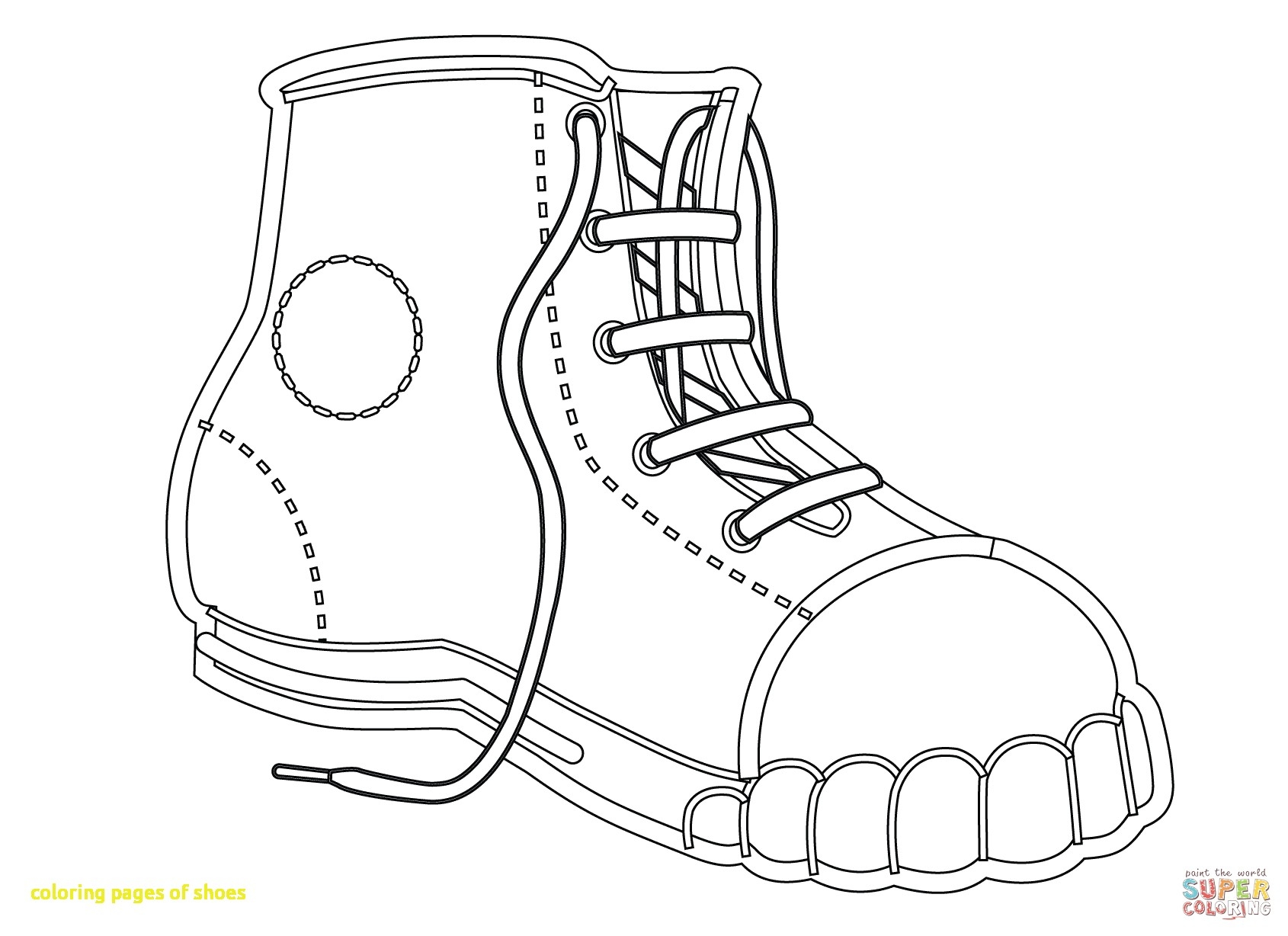 1690x1228 Focus Printable Tennis Shoe Coloring Pages Shoes With Open