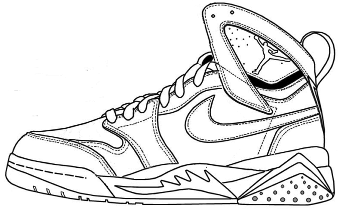 676x417 Air Jordan Shoes Coloring Pages To Learn Drawing Outlines