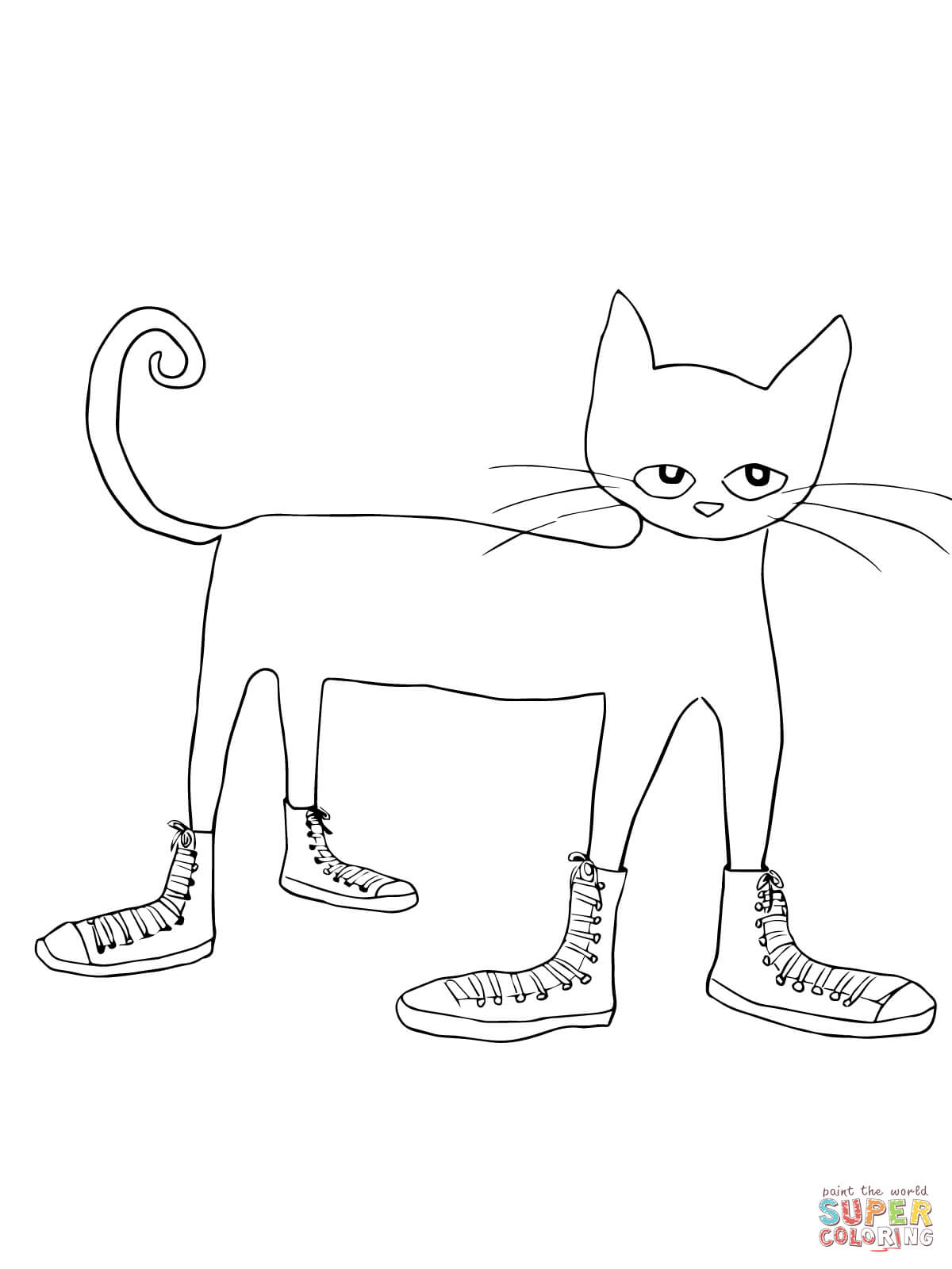 1200x1600 Pete The Cat I Love My White Shoes Coloring Page With Shoe Clip