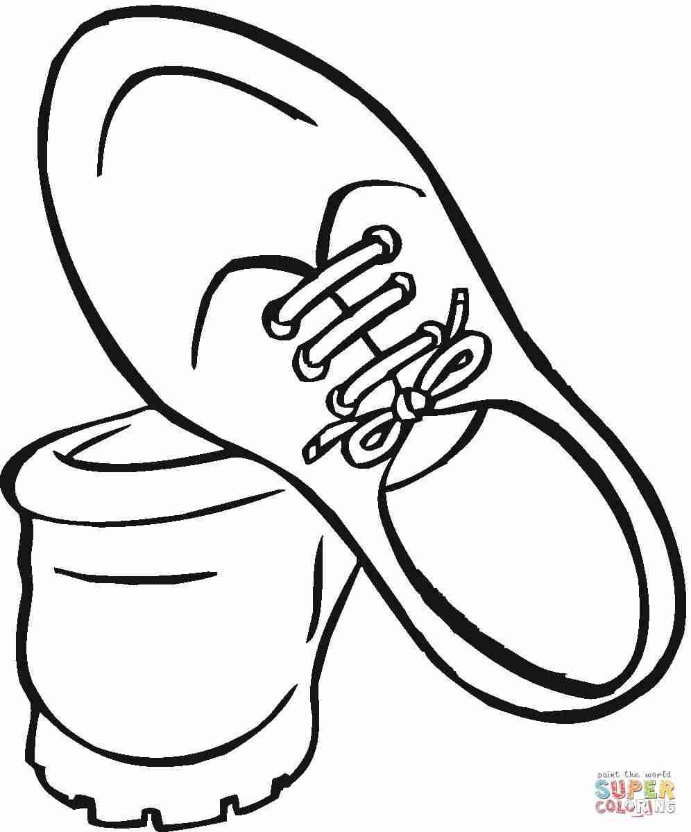 996x1200 Shoes Coloring Page Free Printable Pages Kids Basketball Ballerina