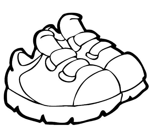 600x537 Shoes Coloring Pages
