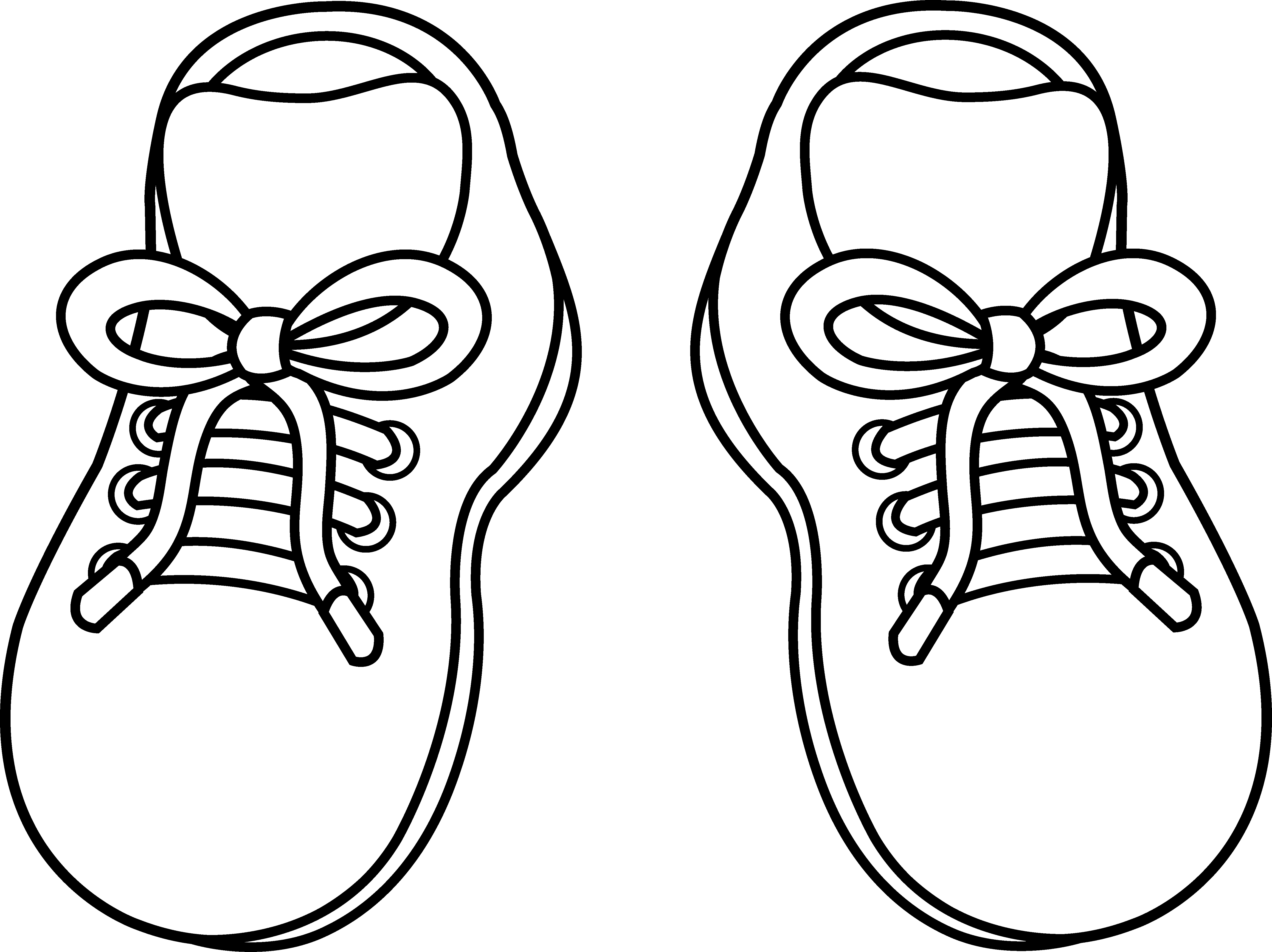5540x4147 Shoes Coloring Pages