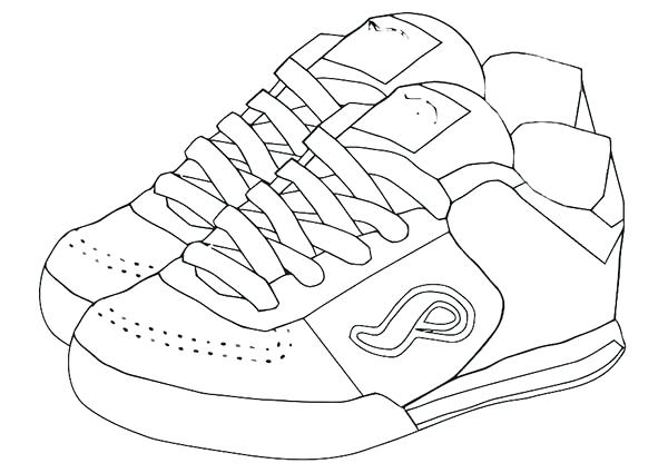 600x425 Shoes Pictures To Color Shoe Color Page Shoe Coloring Pages