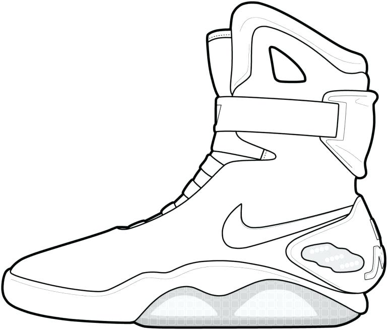 770x655 Tennis Shoe Outline Drawing Shoes Coloring Pages Printable