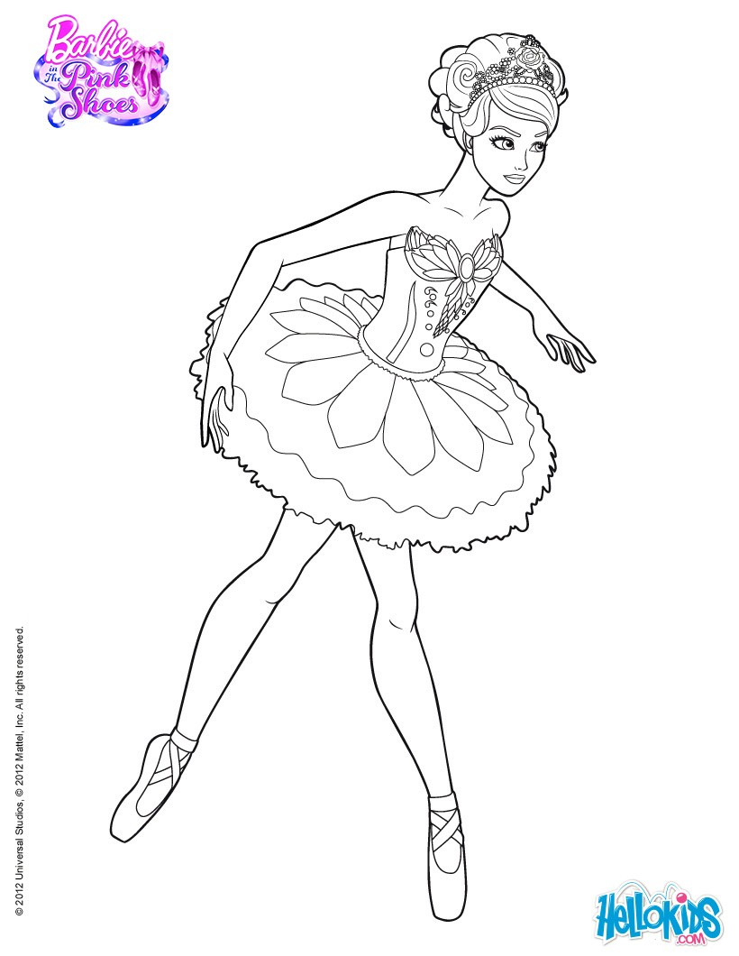 820x1060 Barbie In The Pink Shoes Coloring Pages Online Mattel Dolls