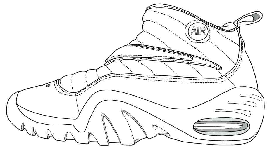 930x530 Basketball Shoe Coloring Page Coloring Pages Printable Logos