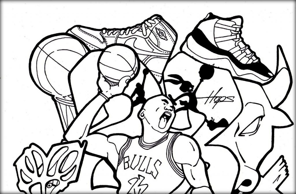 1024x671 Basketball Jordan Shoe Coloring Pages Now Color Own Shoe