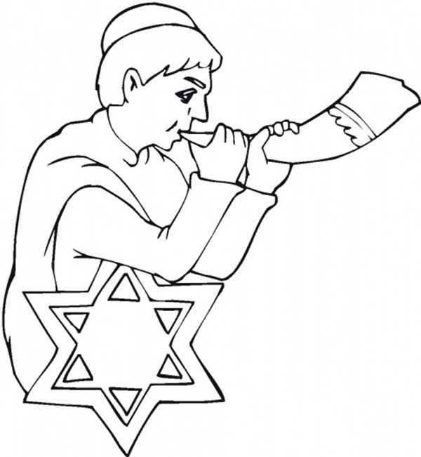 Shofar Coloring Pages