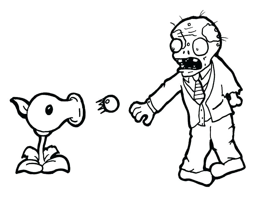 900x650 Plants Vs Zombies Coloring Pages To Print Angry Plant Shooting